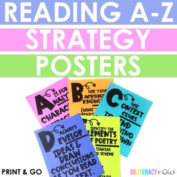 English Reading Alphabet Posters with Reading Skills for Grades 3-5!