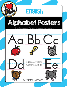 English ABC Posters