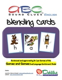 English ABC Sound Clues Blending Cards