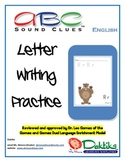 English ABC Sound Clues Letter Writing Practice