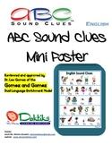 English ABC Sound Clues Mini Poster