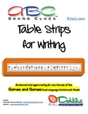 English ABC Sound Clues Table Strips for Writing