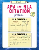 English APA and MLA Citation Posters – Set of 2!