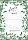 English Achievement Award