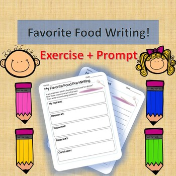 English Activity - Favorite Food Worksheet!