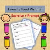 English Activity - Favorite Food Worksheet!