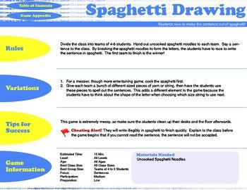 English Activity & Game - SPAGHETTI CIRCLE