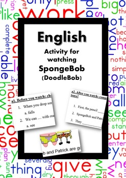 ESL/English: Activity with a SpongeBob episode