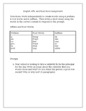 English Affix and Root Word Assignment Practice