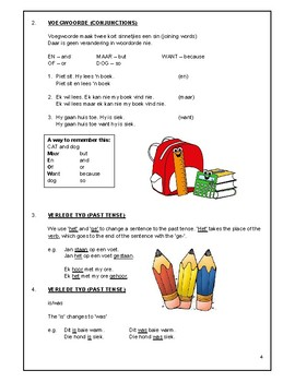 English, Afrikaans and Maths Rules booklet