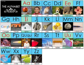 English Alphabet 8.5x11 Printable