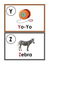 English Alphabet A-Z Letter and Sound Recognition Flashcards