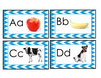 English Alphabet Cards, dual language