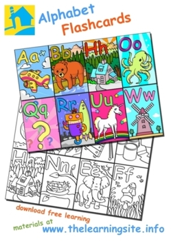 English Alphabet Flashcards and Clip Art