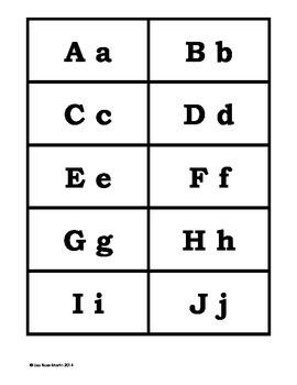 English Alphabet Flashcards for Spanish Speakers