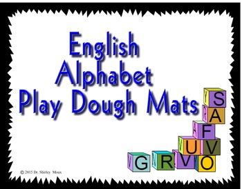English Alphabet Play Dough Mats