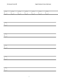 English Alphabet Practice Workbook