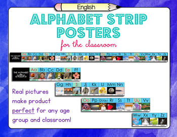 English Alphabet Strip Posters