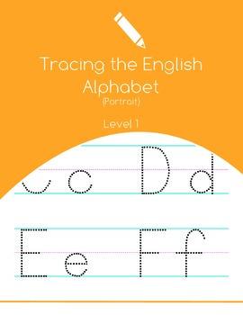 English Alphabet Tracing Level 1 – Portrait