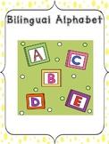 English Alphabet and Spanish Alfabeto