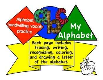 English Alphabet book-My Alphabet