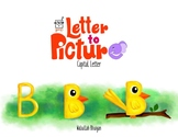 English Alphabet to Picture Series - Capital Letters