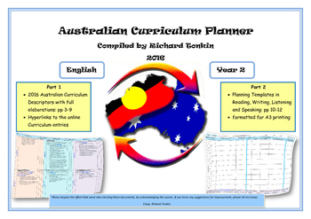 English Australian Curriculum Planner- Year Two