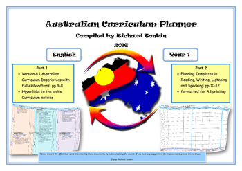English Australian Curriculum Planner- Year One