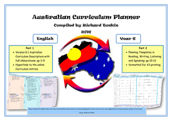 English Australian Curriculum Planner- Year Six