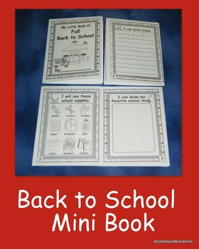 English Back To School Mini Book