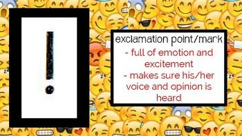 English Back to School/Icebreaker: Punctuation Personalities