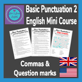 English Basic Punctuation 2 - Commas & Question Marks