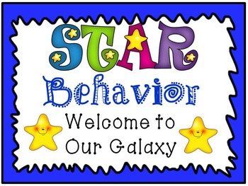 Behavior Chart: English Blue border