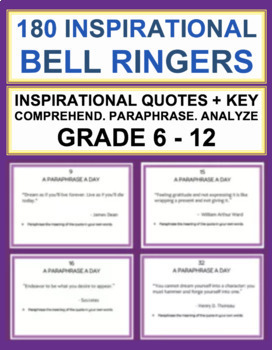 English Bell Ringers for Middle School and High School