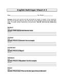 English Bellringer Sheet 3