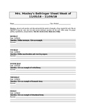 English Bellringer Sheet 4