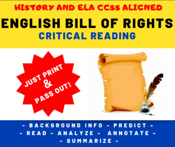 English Bill of Rights (1689) Critical Reading