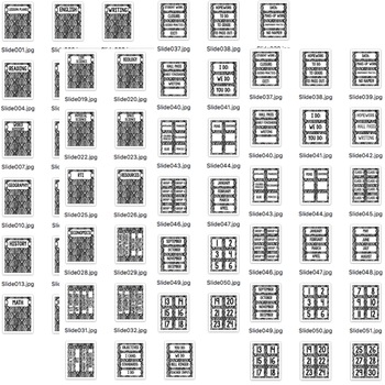 SECONDARY CLASSROOM DECOR, BINDER LABELS, BLACK AND WHITE