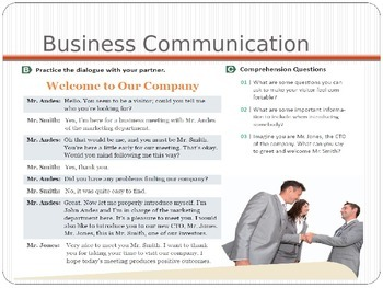 English Business communications: Welcoming visitors