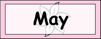 Calendar and Date Cards (English)