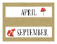 English Calendar Months- Camping Theme!