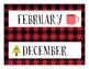 English Calendar Months- Camping Theme!