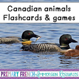 English - Canadian Animals - Flashcards, Word wall words, and game cards
