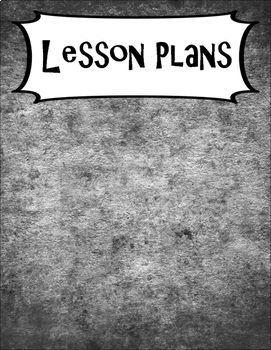 SECONDARY CLASSROOM DECOR, BINDER LABELS, Chalk Black and White
