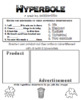 English Cheat Sheet Doodle Notes -Hyperbole