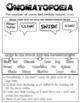 English Cheat Sheet Doodle Notes -Onomatopoeia