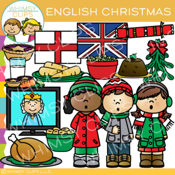 Christmas in England Clip Art {Christmas Around the World Clip Art}