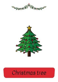 English Christmas Flashcards