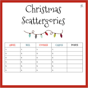 photo about Scattergories Lists 1-12 Printable named French Scattergories Worksheets Training Supplies TpT
