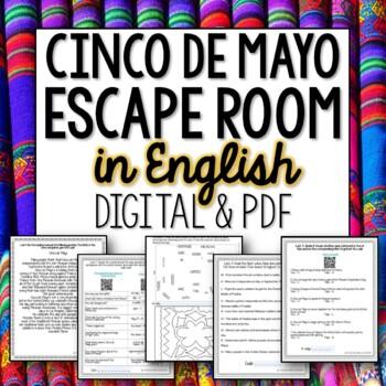 English Cinco de Mayo Break out Room Escape Activity